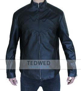 Batman Begins Christian Bale Real Leather Jacket