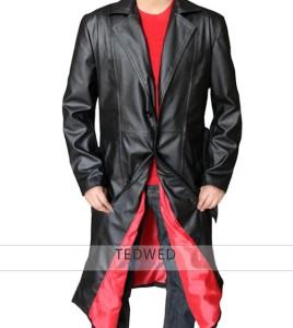 Blade Trinity Black Leather Long Coat