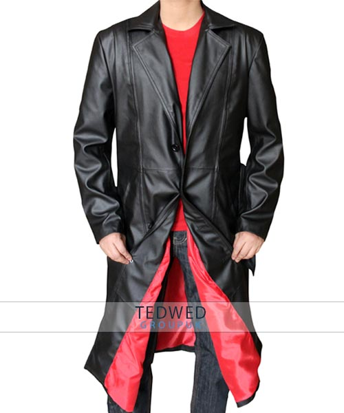 Blade Trinity Black Leather Long Coat