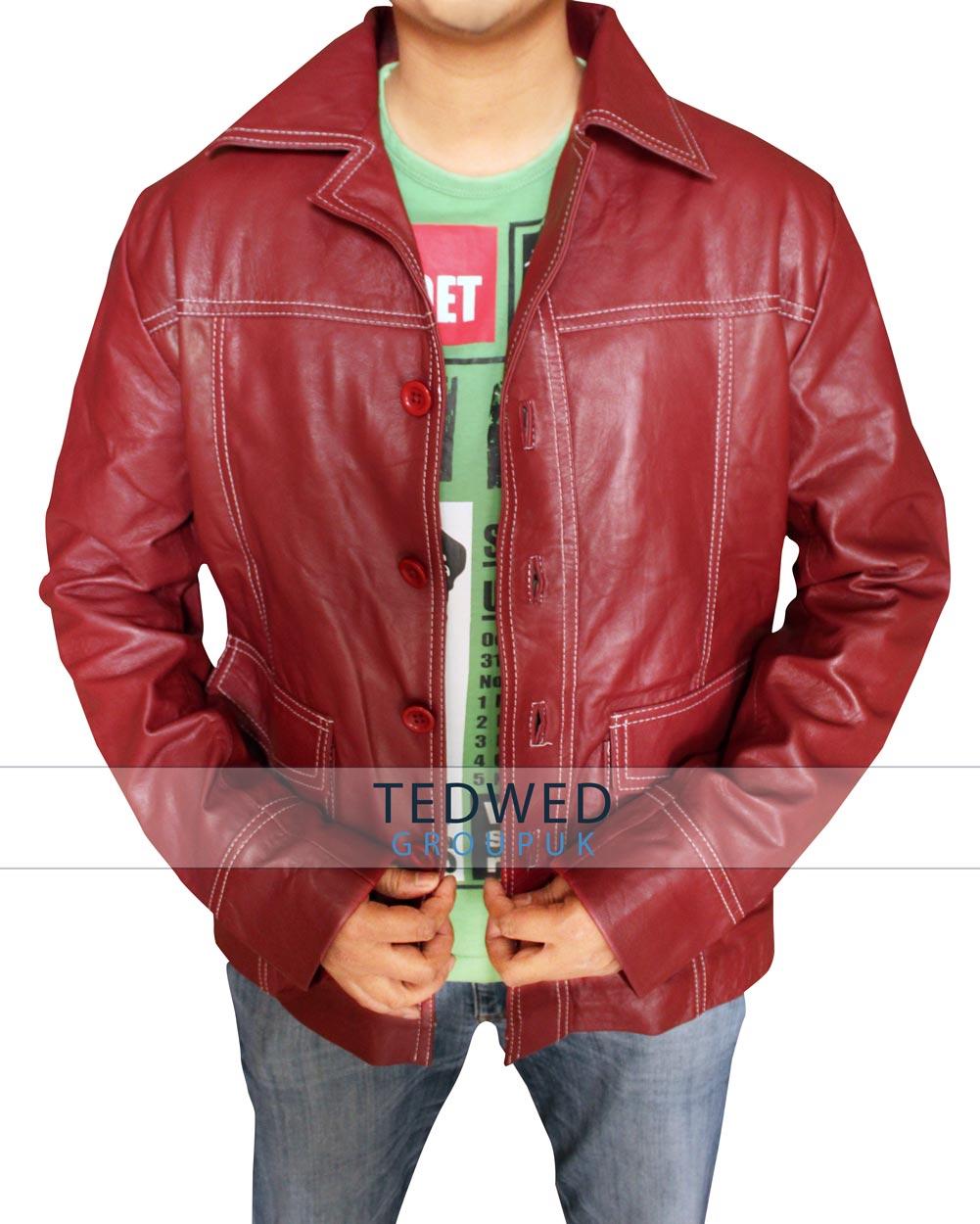 Brad Pitt Fight Club Leather Jacket