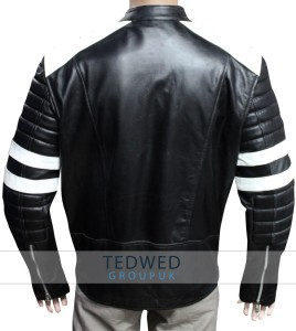 Brad Pitt Fight Club Motorcycle Leather Jacket