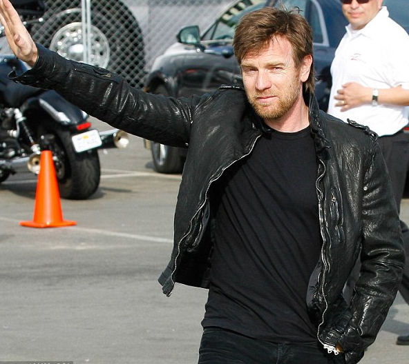 Ewan McGregor Italian Motorcycle Leather Jacket