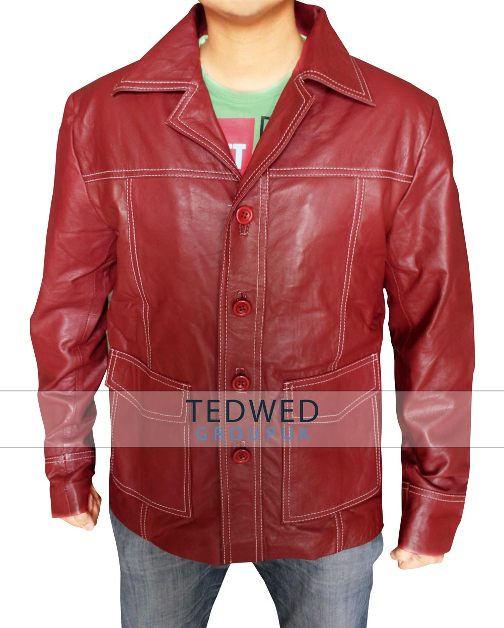 Fight Club Brad Pitt Red Jacket