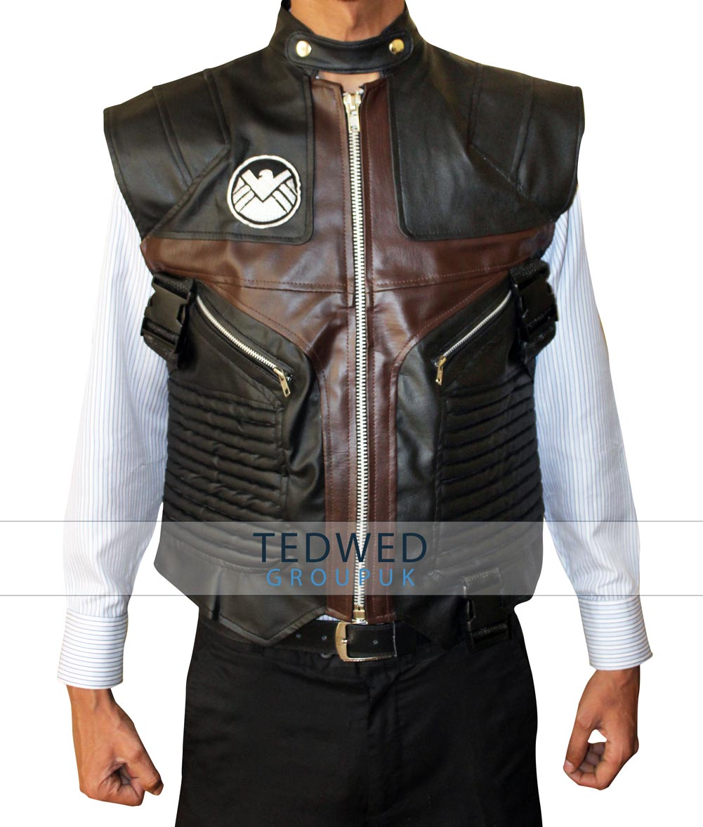 Jeremy Renner Hawkeye Leather Vest