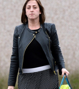 Natalie Cassidy Black Leather Jacket