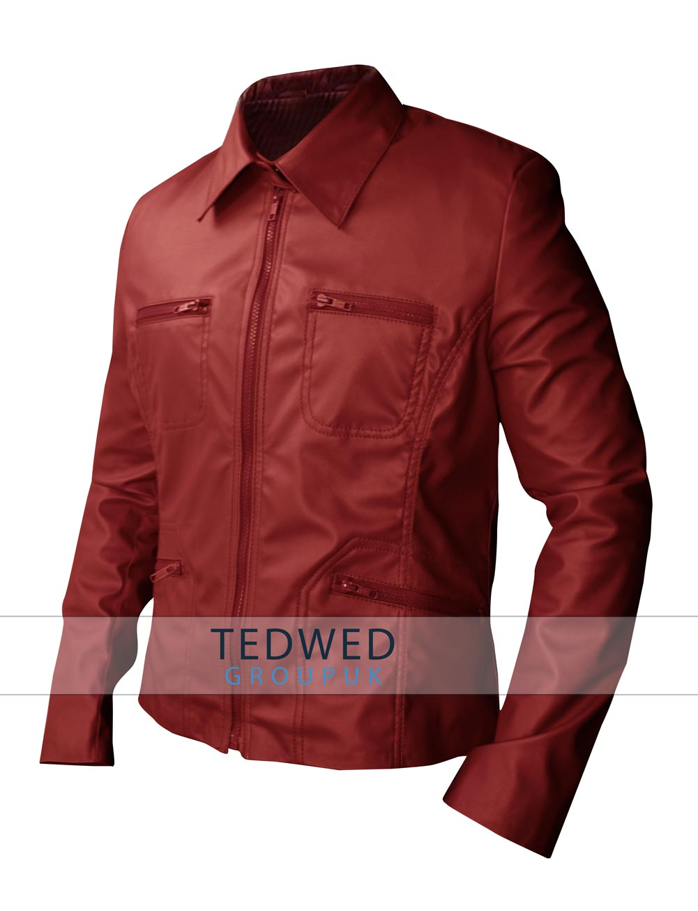 Once Upon a Time Emma Swan Red Leather lacket