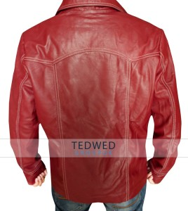 Red Brad Pitt Jacket Leather