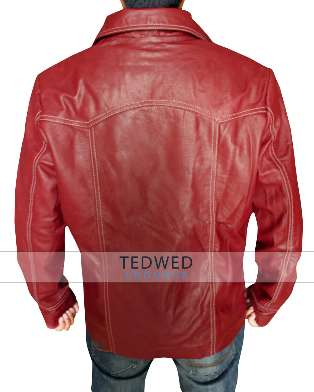 Red Brad Pitt Jacket Leather