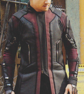 Hawkeye Avengers Age of Ultron Leather Coat