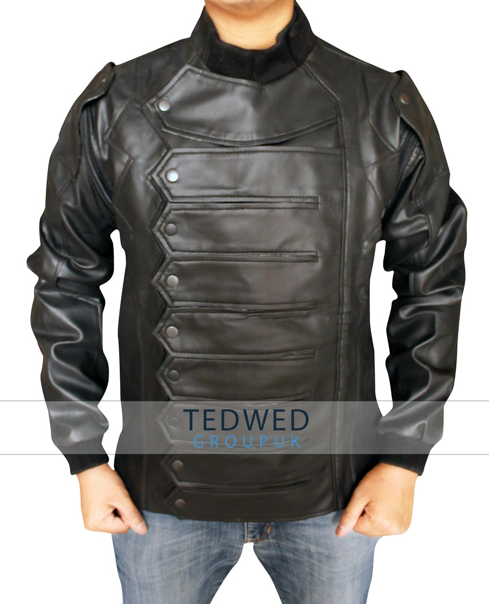 Captain America Silver Armour_Bucky_Barnes Vest Jacket