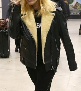 Ellie Goulding Shearling Paris Jacket