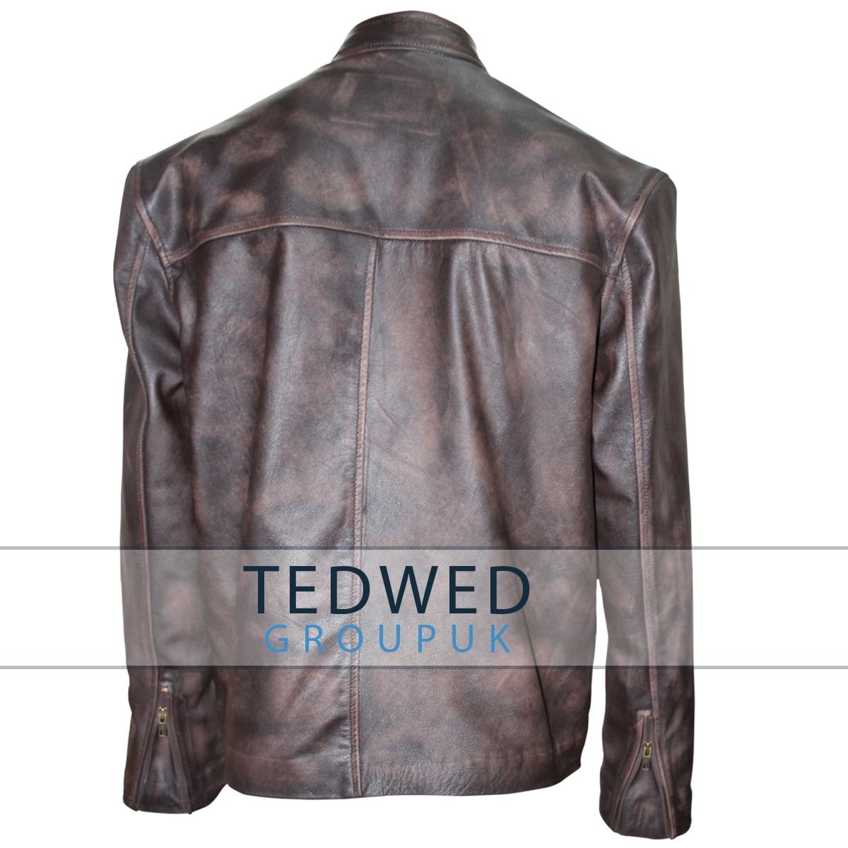 Tom Cruise Distressed Leather Jacket