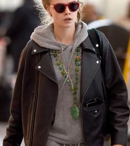 Cara Delevingne leather Jacket