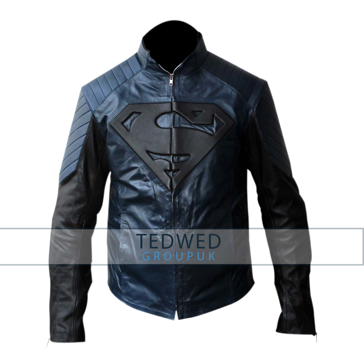 Superman Smallville Blue and Black Jacket