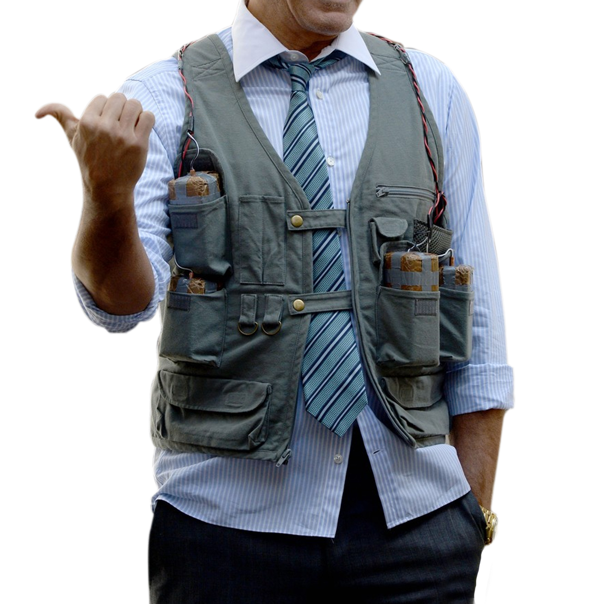 george clooney suicide vest money monster jacket