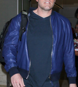 Ben Affleck's Live By Night Blue Leather Jacket