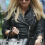 Emma Bunton black biker Leather jacket