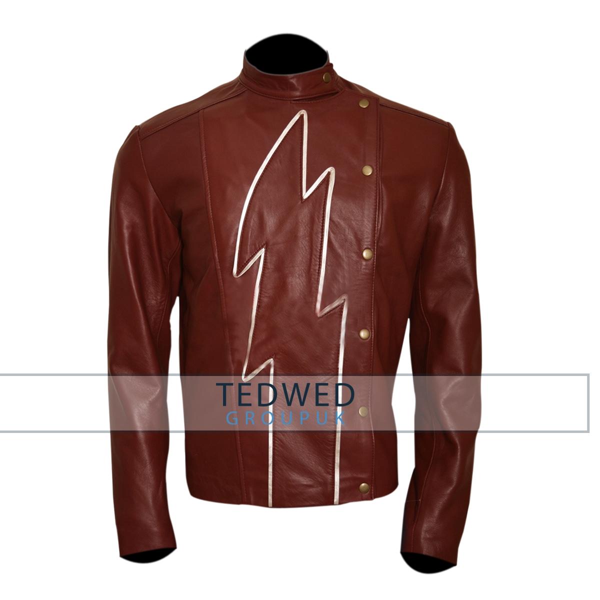 the flash season 2 jay garrick red-leather jacket