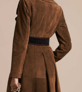 Kate Middleton Burberry_double Breasted Suede Coat