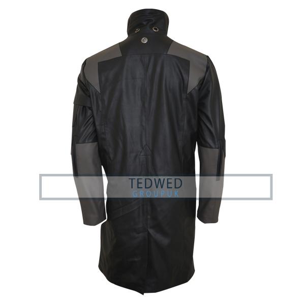 adam jensen deus ex mankind divided black leather coat