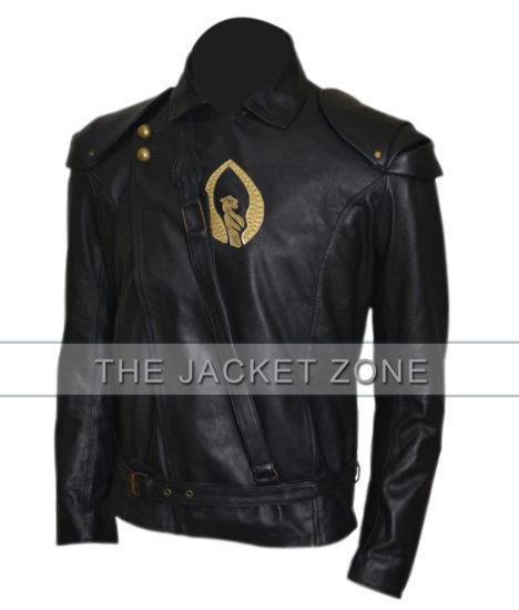 the shannara chronicles aaron jakubenko black leather jacket