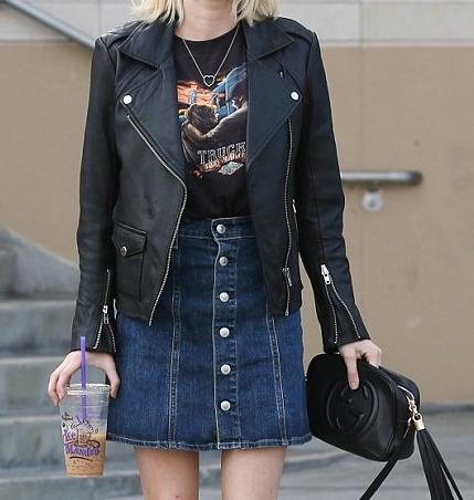 Emma Roberts Leather Jacket
